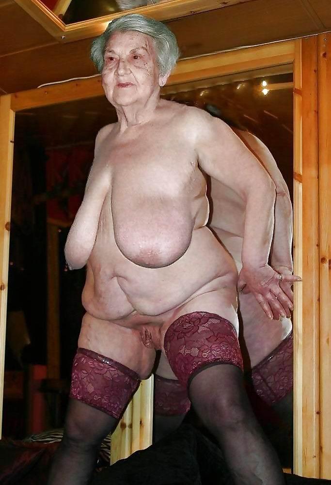Granny big tits solo
