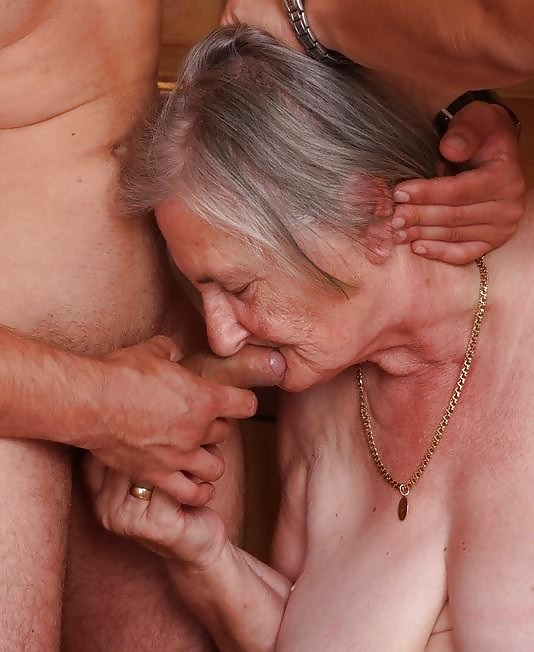 Old granny swallows