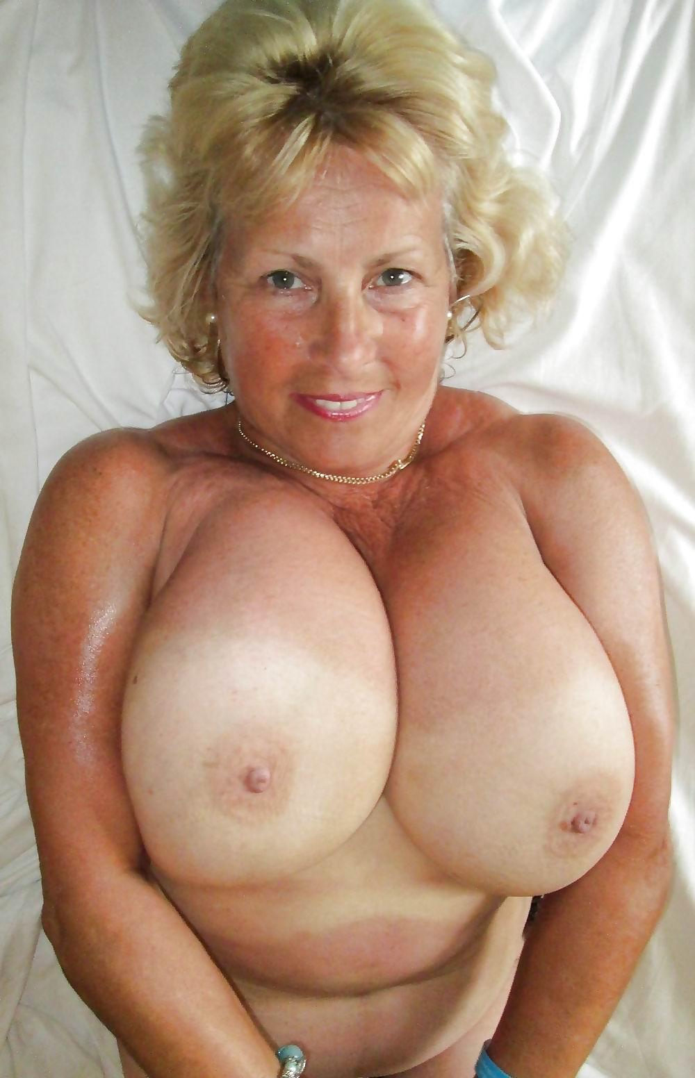 Big tits grandma